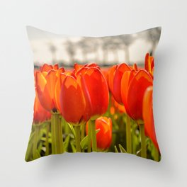 Tulips standing tall Throw Pillow