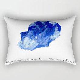 september sapphire Rectangular Pillow