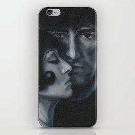 Portrait of Neil Gaiman and Amanda Palmer iPhone Skin