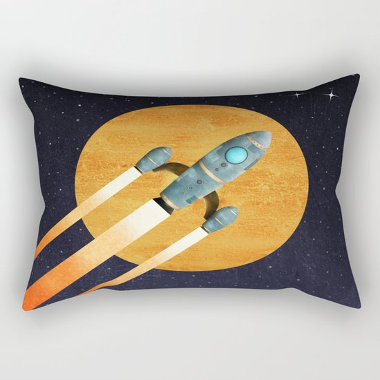 Rocket  2nd Star to the right  LLAP Rectangular Pillow