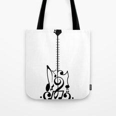 Guitar of Notes Tote Bag