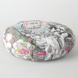 Excellent Library - Pride and Prejudice Floor Pillow
