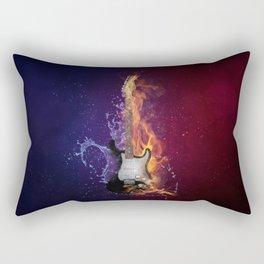 Cool Music Guitar Fire Water Artistic Rectangular Pillow