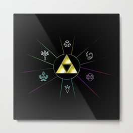 ZELDA TRIFORCE SYMBOL Metal Print