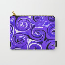 Bright Blue Violet Swirls Carry-All Pouch