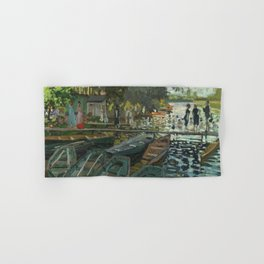 Bathers at La Grenouillere by Claude Monet Hand & Bath Towel