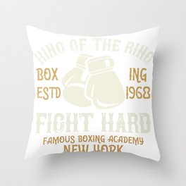 King Of The Ring Boxing Throw Pillow