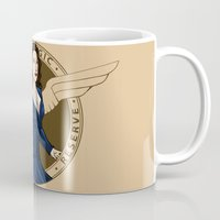 agent carter Mugs featuring Agent Carter by Arania