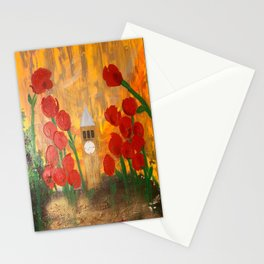 150 Years of CU - An Alumni Anniversary Tribute with Red Tulip Flowers Stationery Cards
