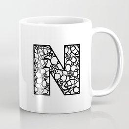 Letter N Coffee Mug