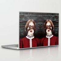 third eye Laptop & iPad Skins featuring Third Eye by elle moss