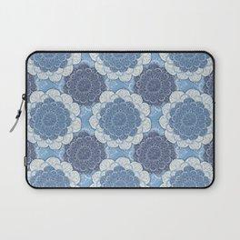 Lacy Blue & Navy Mandala Pattern  Laptop Sleeve