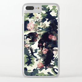 Camouflage Skull Clear iPhone Case