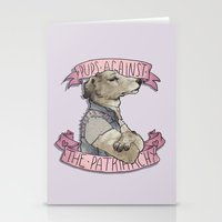 patriarchy Stationery Cards featuring Pups against the Patriarchy  by cyrrs