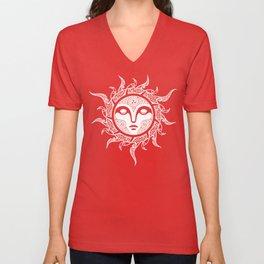 YULE. MIDWINTER SUN. Unisex V-Neck