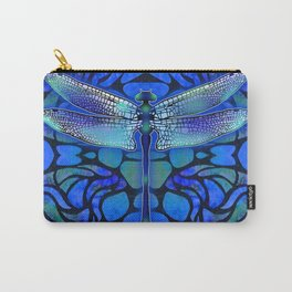 Dragonfly in Blue Carry-All Pouch