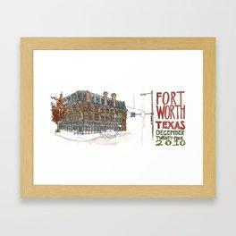 Fort Worth Framed Art Print