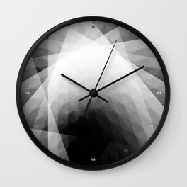 A Receptive Mind is Connected BLK/WHT Wall Clock