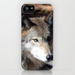 The Eyes of a Wolf iPhone Case