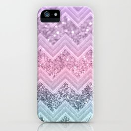 Unicorn Glitter Chevron #1 #pastel #shiny #decor #art #society6 iPhone Case