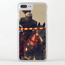 Medieval Chivalry Clear iPhone Case