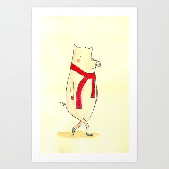 Mr. Red Art Print