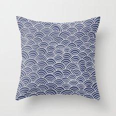 Indigo Pattern Throw Pillow