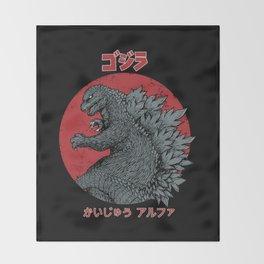 Gojira Kaiju Alpha Throw Blanket