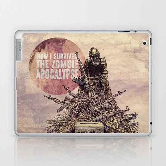 How I Survived The Zombie Apocalypse Laptop & iPad Skin