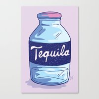 tequila Canvas Prints featuring Tequila by - OP -