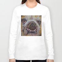 bulldog Long Sleeve T-shirts featuring Bulldog by Michael Creese