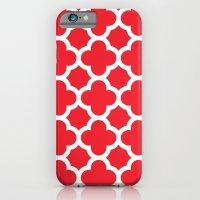Red Quatrefoil iPhone 6s Slim Case