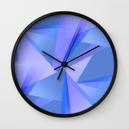 Meditation - Blue Abstract Wall Clock