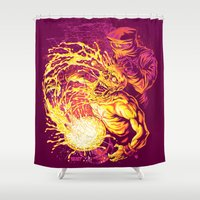 acid Shower Curtains featuring ACID DUNK by BeastWreck