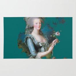 marie Antoinette teal Rug