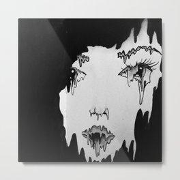 Melt. Metal Print