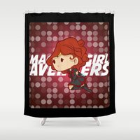 magical girl Shower Curtains featuring Magical Girl Widow by monobuu