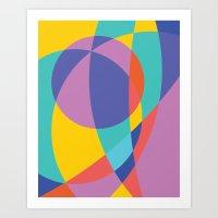 Geometric Beach Ball 2 Art Print