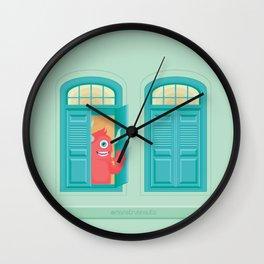 Hay un monstruo en la ventana Wall Clock