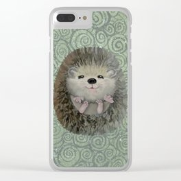 Cute Baby Hedgehog Clear iPhone Case