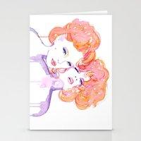 klimt Stationery Cards featuring Klimt Mistresses by Nicola MacNeil