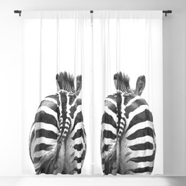 Black and White Zebra Tail Blackout Curtain