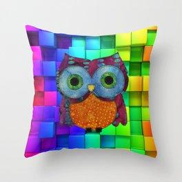 Owl Fabric Throw Pillow