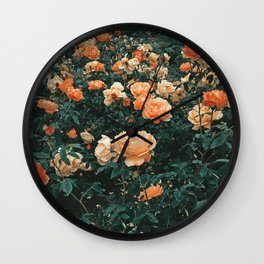 Forest of Roses Wall Clock