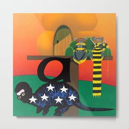 AMERICAN ARMADILLO @ AGED APIARY Metal Print