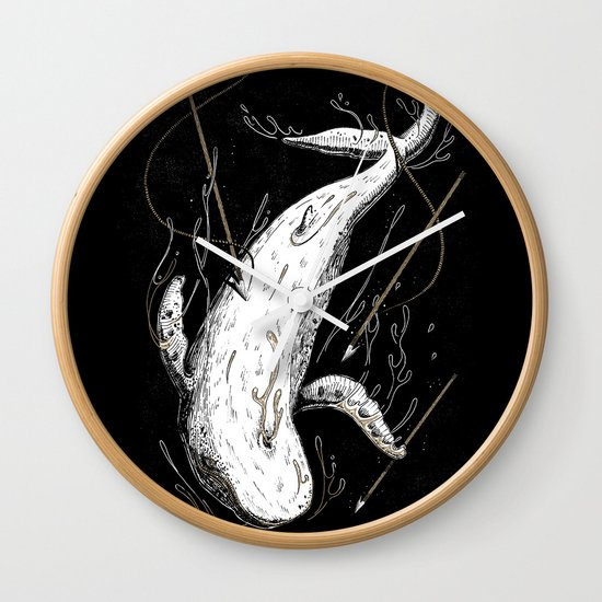 Moby-Dick. The Whale Wall Clock