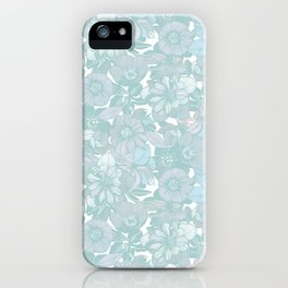 Hellebore lineart florals | bright iPhone Case