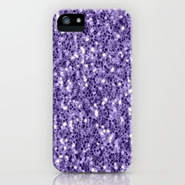 Ultra violet purple glitter sparkles iPhone Case