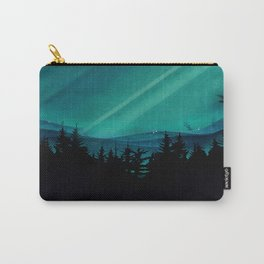 Magic in the Woods - Turquoise Carry-All Pouch