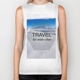 Himala-YEAH! (Travel far quote) Biker Tank